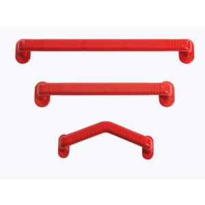 Plastic Red grab rails