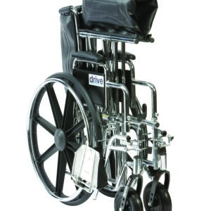 Folded Up Sentra EC Wheelchair