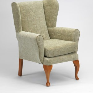 Queen Anne Fireside Chair - Sage