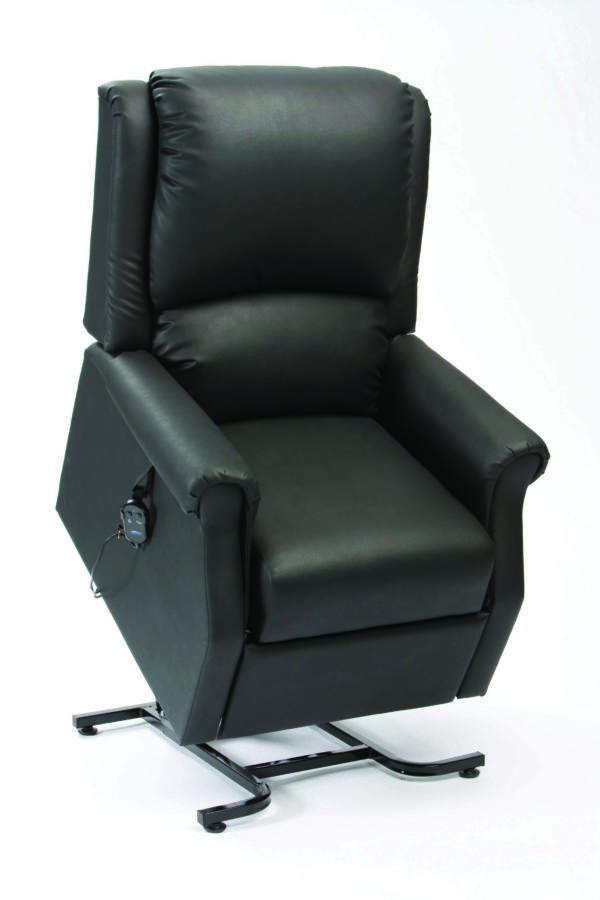 Chicago AM PVC Black Rise Recliner Sit Up