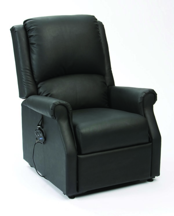 Chicago AM PVC Black Rise Recliner