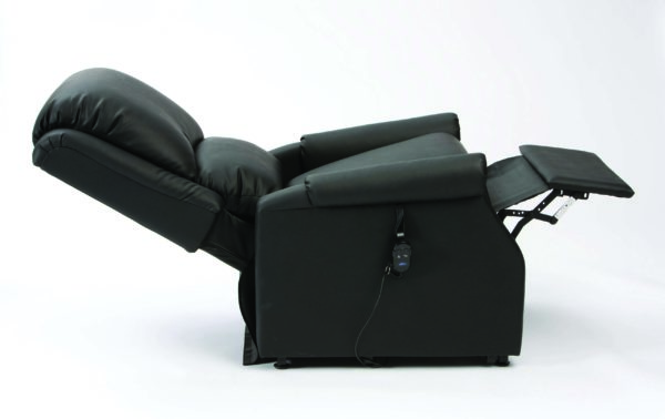 Chicago AM PVC Black Rise Recliners