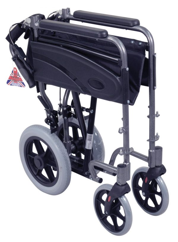 Aluminium Compact Transit Wheelchair - Pink