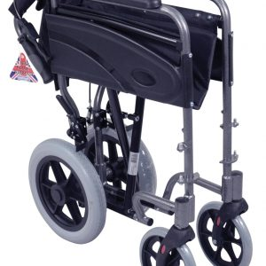 Aluminium Compact Transit Wheelchair - Blue