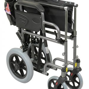 Deluxe Attendant Propelled Steel Wheelchair - Blue