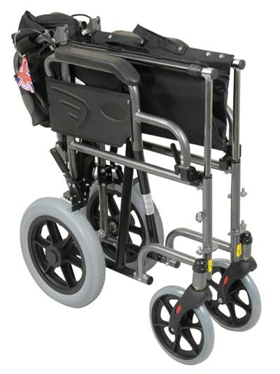Deluxe Attendant Propelled Steel Wheelchair - Silver