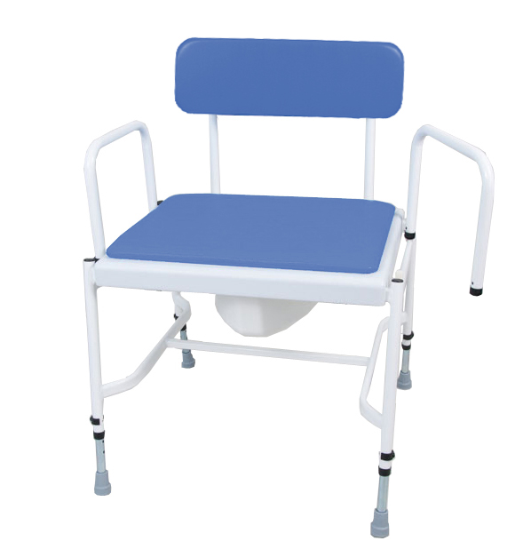 Cefndy - Bariatric Adjustable Height & Detachable Arms Commode