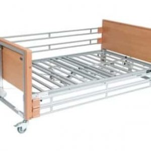 Bariatric Single Low Hospital Bed - Wooden Rails