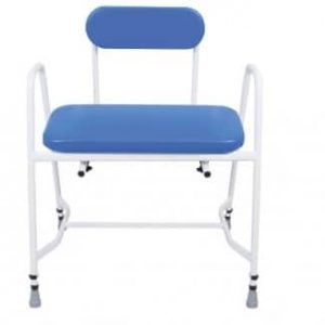 Bariatric Perching Stool with Arms and Padded Back