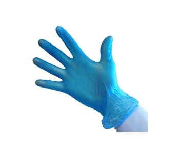 Blue Vinyl Powder Free Gloves - Single Box (100 Gloves)