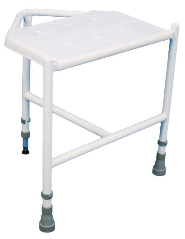 Height Adjustable Corner Shower Stool
