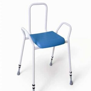 Deluxe PU Perching Stool – Steel Back & Arms