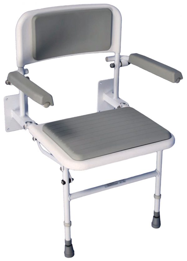 Deluxe Shower Seat with Padded Back & Seat