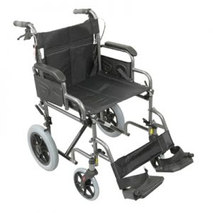 Deluxe Attendant Propelled Steel Wheelchair - Silver
