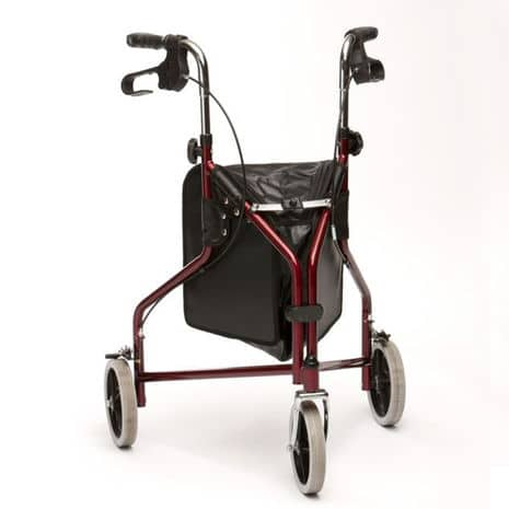 Drive Lightweight Steel Tri-Walker - Red