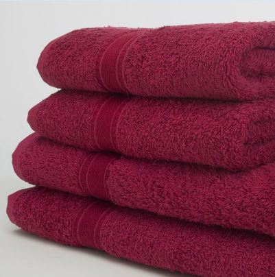 Face cloth in Burgundy