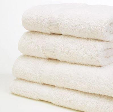 Ivory bath towel