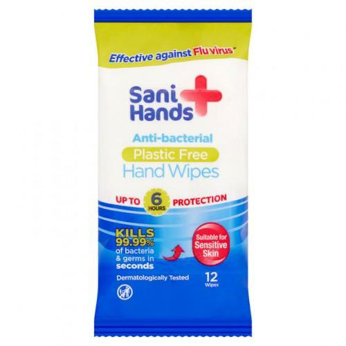 Sani-Hand - Sensitive Anti-Bacterial Hand Wipes (10 x Handy Pack of 12)