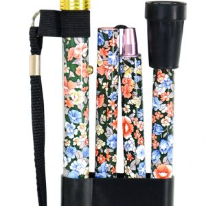 Deluxe Folding Walking Cane - Japanese Floral