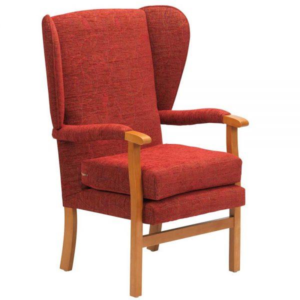 Jubilee Fireside Chair - Crimson