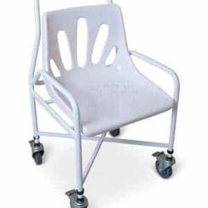 Mobile shower chair Height Adjustable