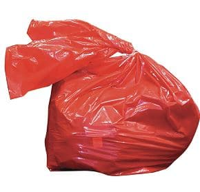 Red Soluble Laundry Sacks