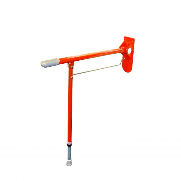 Cefndy Deluxe Red Drop Down Grab Rail