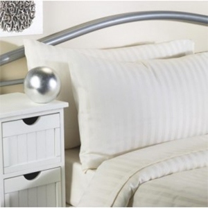 Satin Stripe Flame Retardant Pillowcase