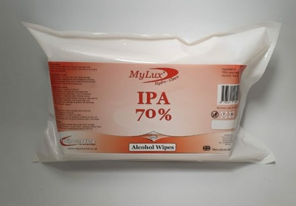 200 x Pack Alcohol Wipes - 70% IPA