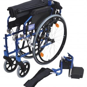 Deluxe Lightweight Self Propelled Wheelchair - Blue