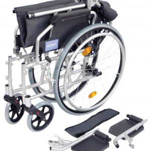 Deluxe Lightweight Self Propelled Wheelchair - Silver