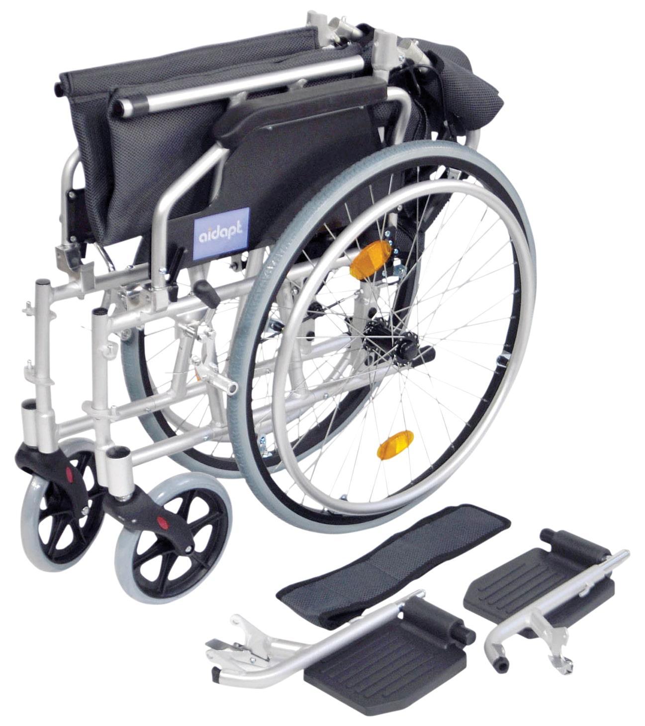 Deluxe Lightweight Self Propelled Wheelchair - Silver