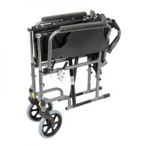 Deluxe Self Propelled Steel Wheelchair - Red