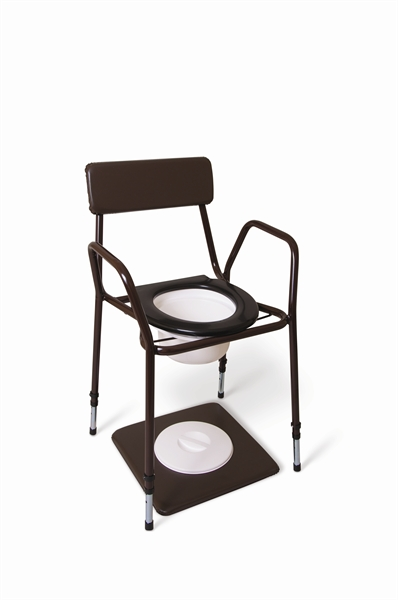 Cefndy Stackable Commode - Adjustable Height & Fixed Arms