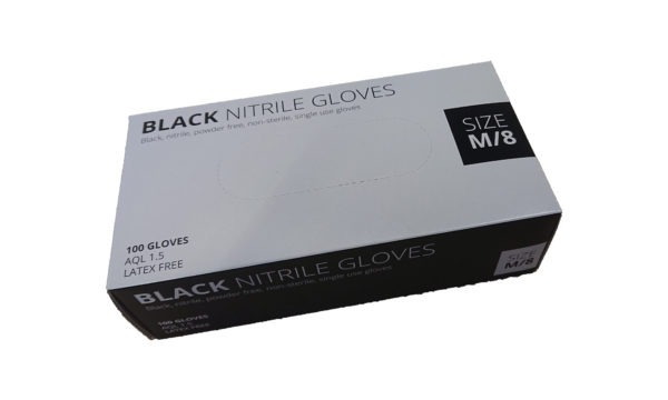 Powder free Black Nitrile Gloves