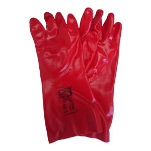 PVC Red Dip Gauntlets