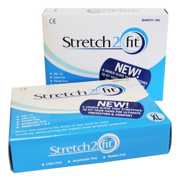 Stretch 2 fit gloves clear