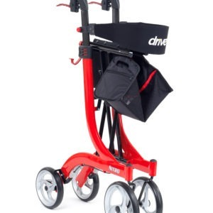 Folded Red Nitro Rollator