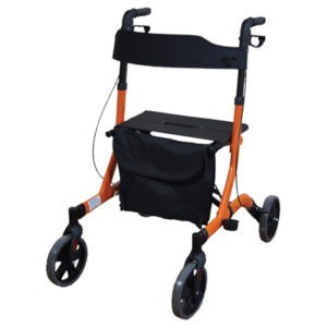 Orange Lightweight Rollator