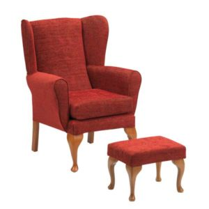 Queen Anne Chair with Stool