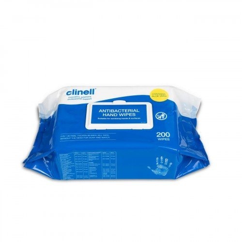 Clinell anti Bacterial Hand Wipes