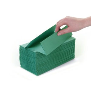 Green C-Fold Hand Towes