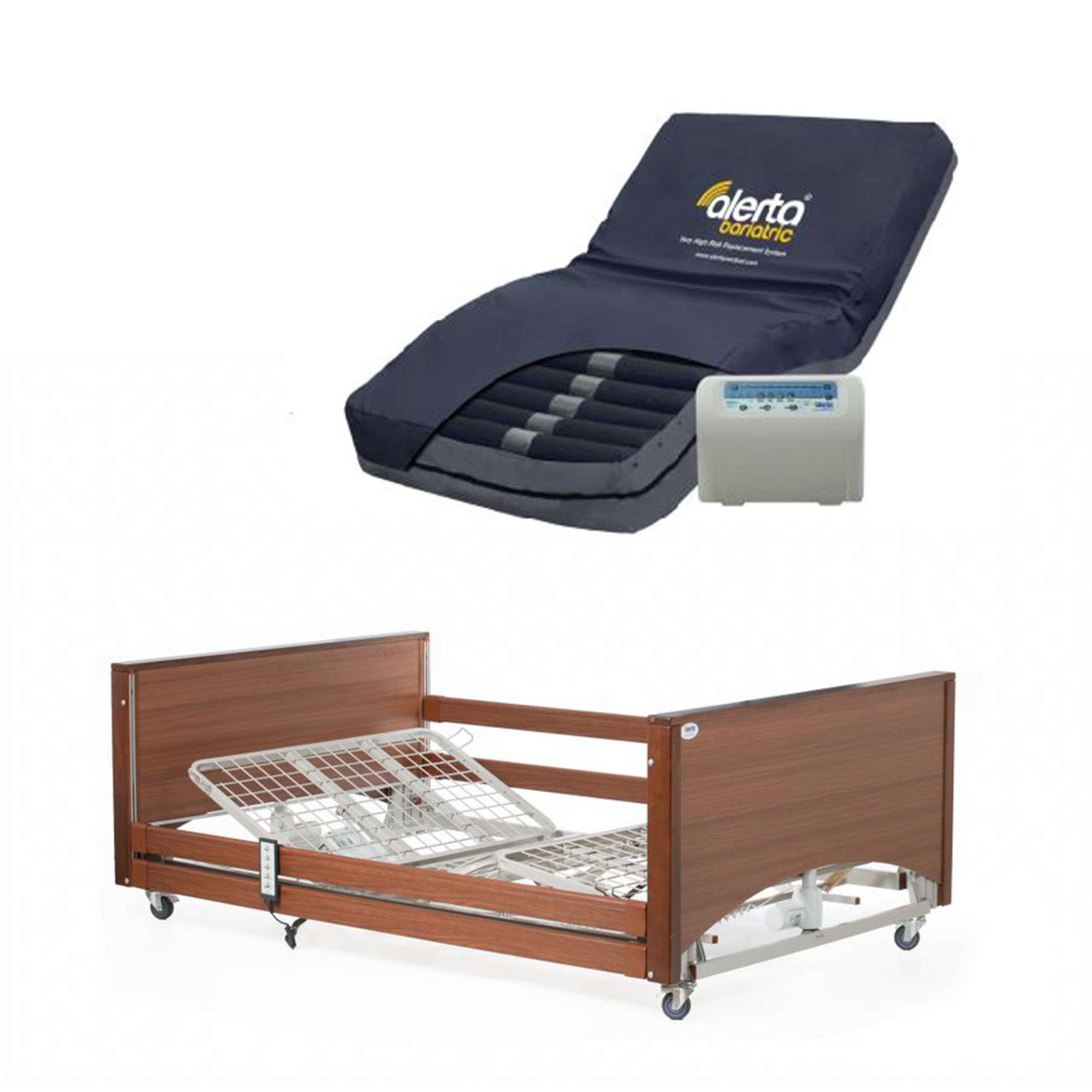 Bariatric bed with Bariatric High Risk Air mattress