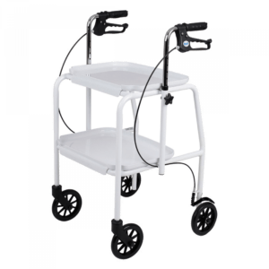 Handy trolley with Brakes White