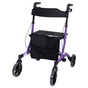 Purple Deluxe Ultra Lightweight Rollator