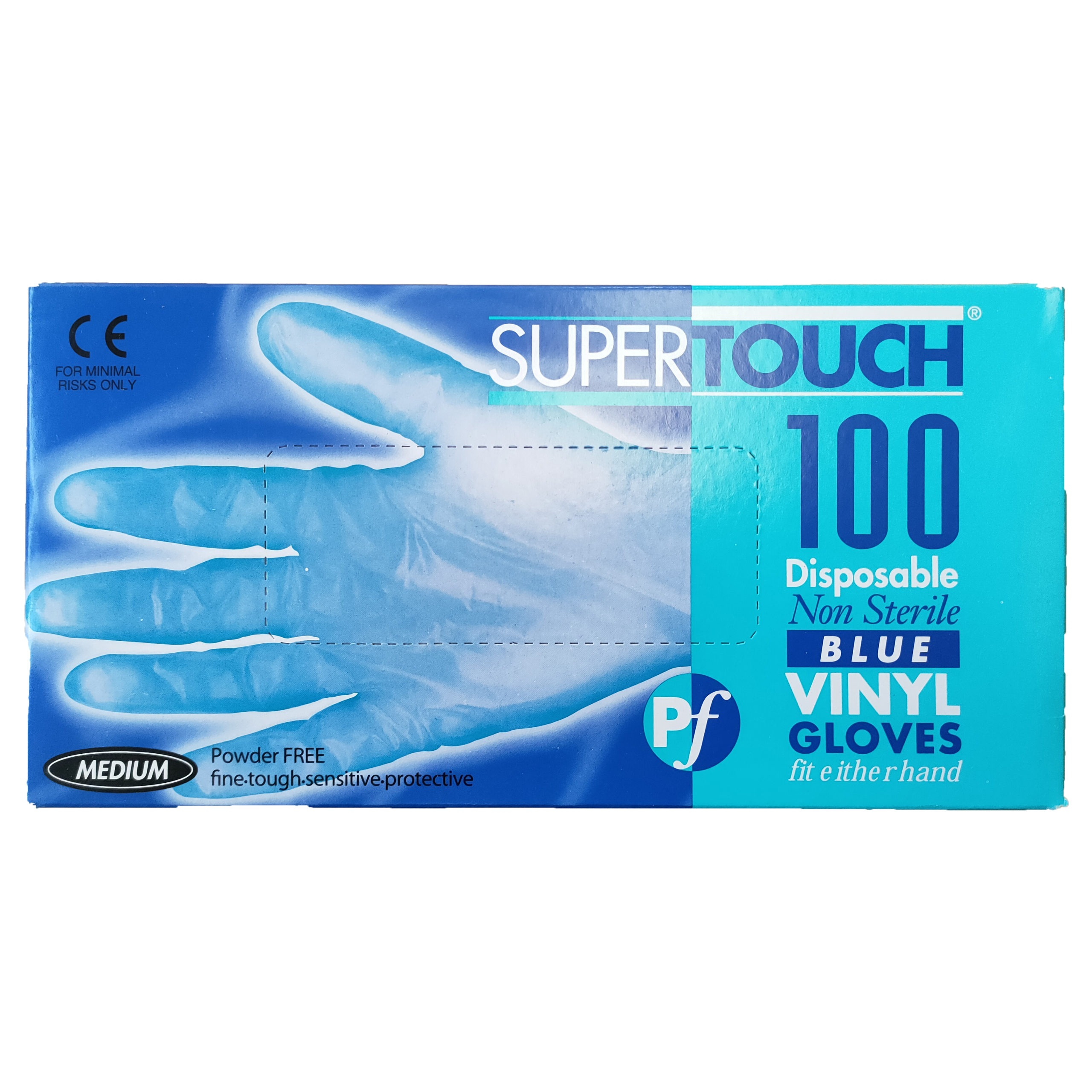 Supertouch Blue 100 Gloves