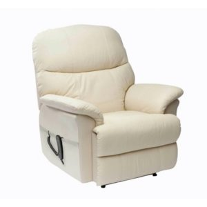 lars Recliner Chair in Cream
