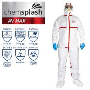Chemsplash AV Max Coverall Type 4B/5B/6B