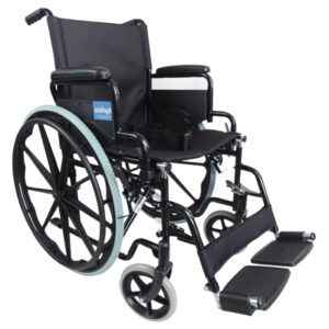 Deluxe Self Propelled Steel Black Wheelchair