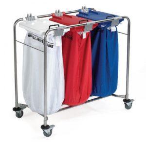 3 Bag Laundry Trolley